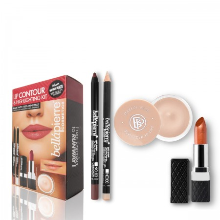 bellapierre lip countour and highlight kit cinnamon