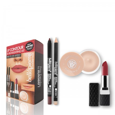 bellapierre lip countour and highlight kit natural